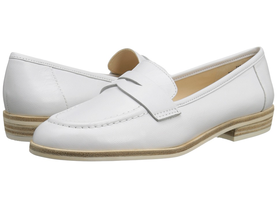 Nine West Antonecia White Leather Womens Shoes