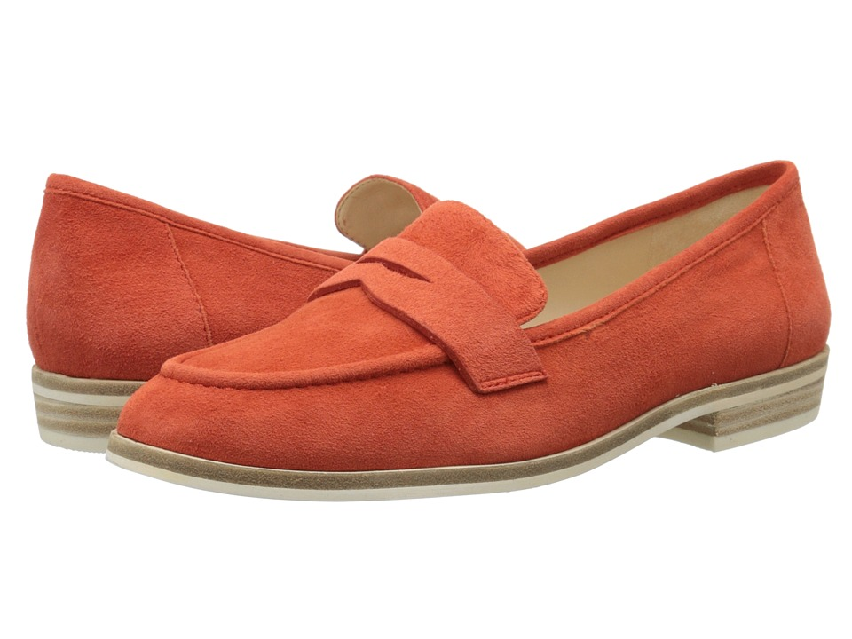 Nine West Antonecia Red Orange Suede Womens Shoes