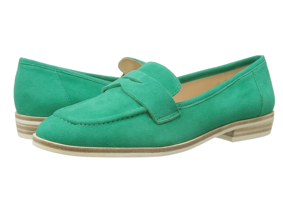 Nine West Antonecia Green Suede Womens Shoes