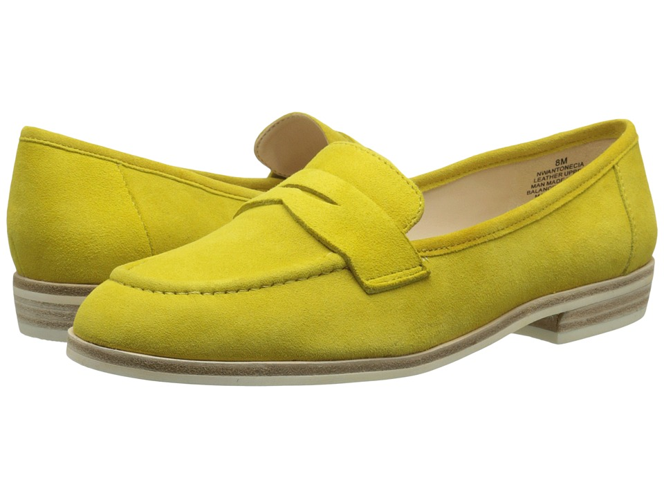 Nine West Antonecia Yellow Suede Womens Shoes
