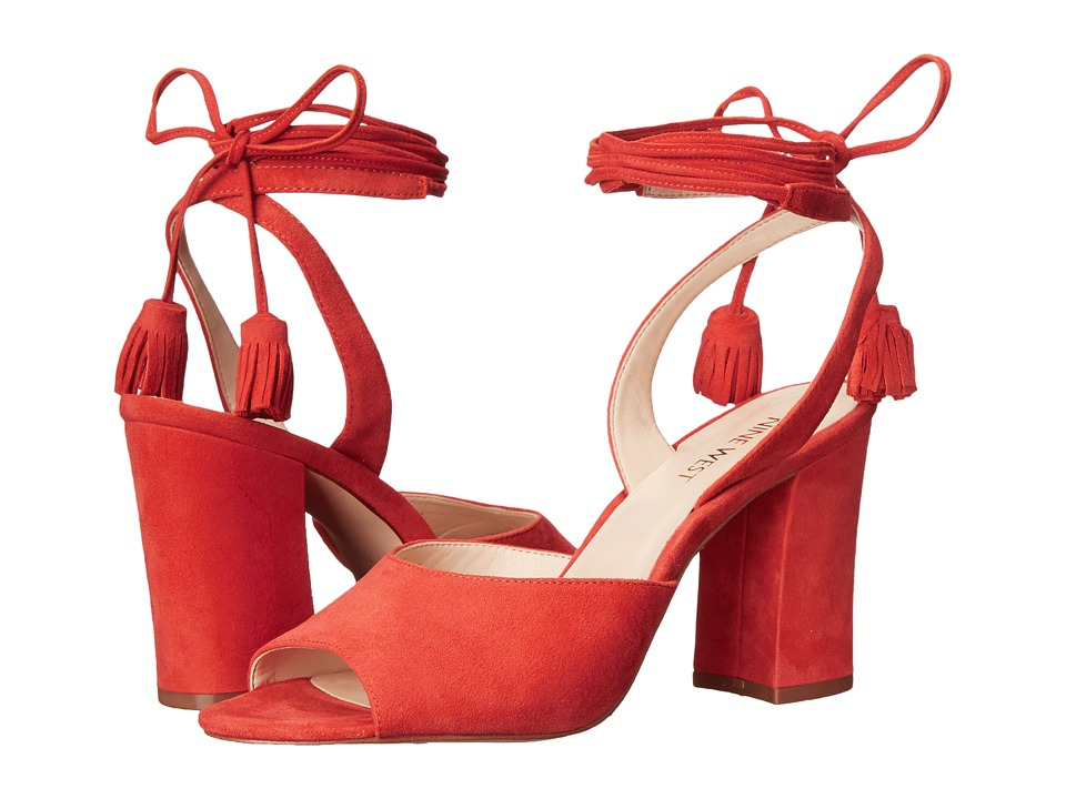Nine West Bellermo Red Suede High Heels