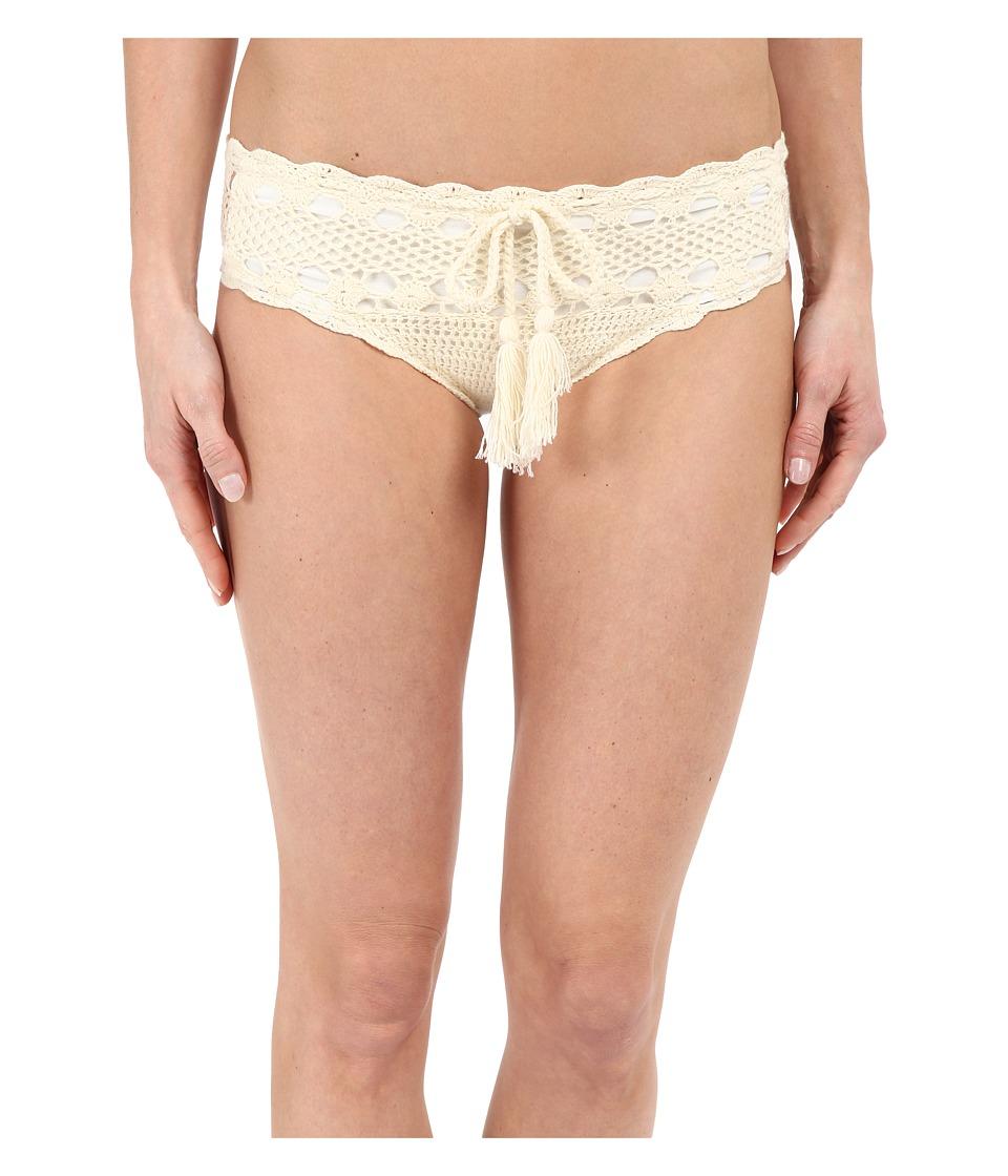 Vitamin A Swimwear Nightbird Cheeky Crochet Bottoms Natural Crochet Womens Swimwear