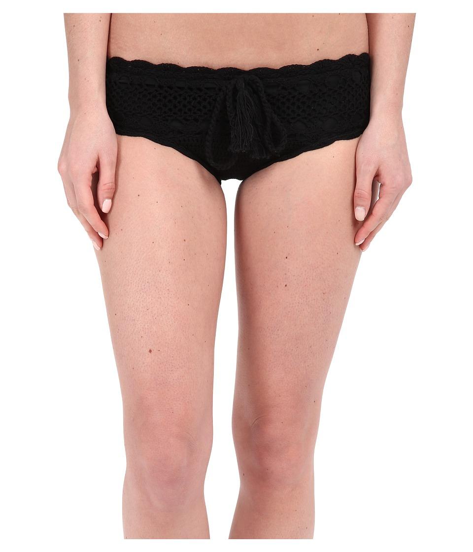 Vitamin A Swimwear Nightbird Cheeky Crochet Bottoms Black Crochet Womens Swimwear