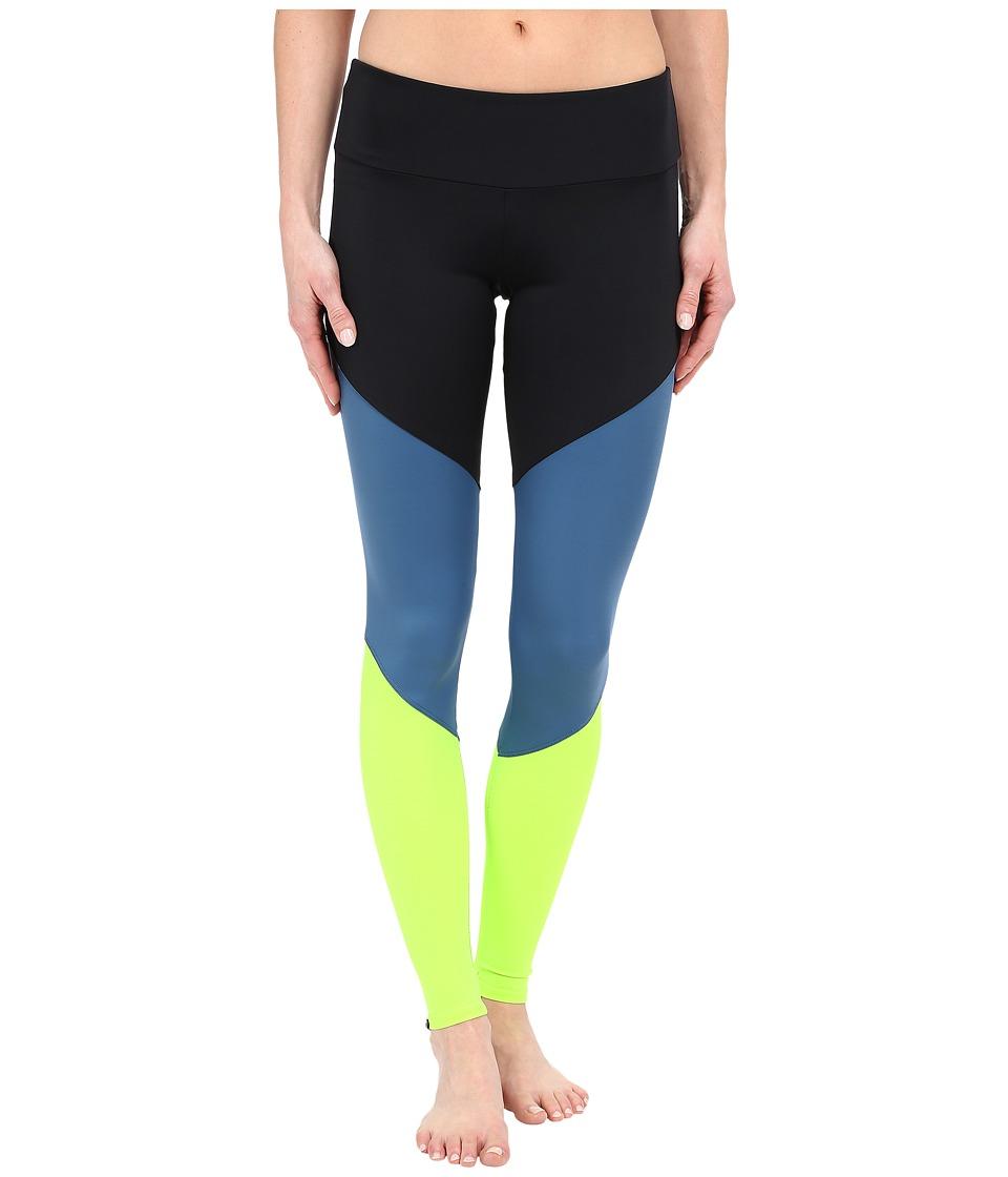 Onzie Lemon Lime Track Leggings Black/Jean/Lemon Lime Womens Casual Pants