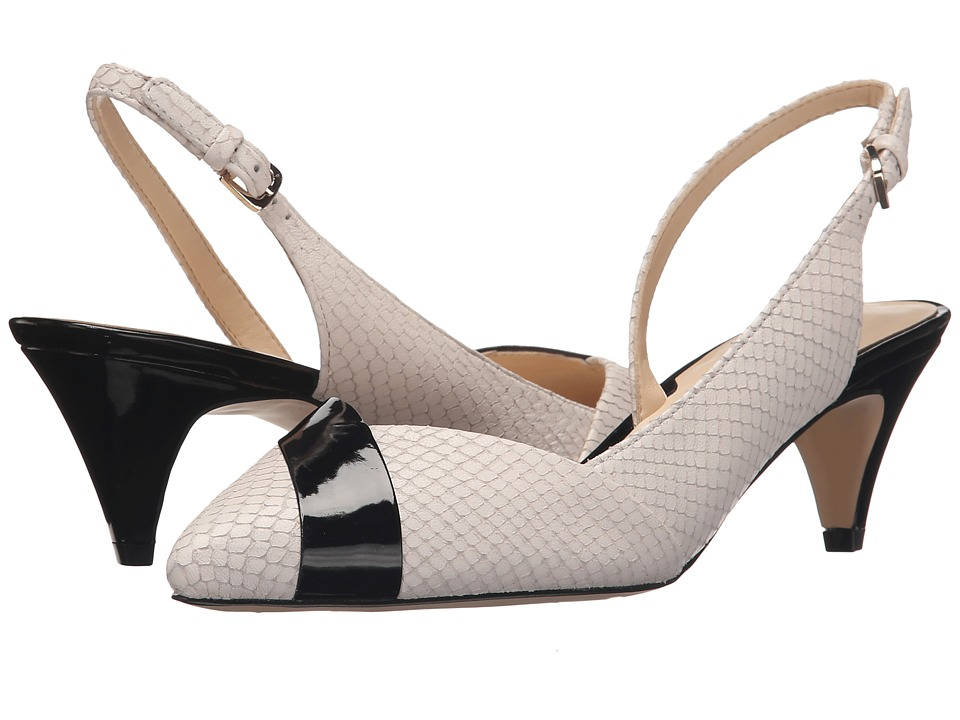 Nine West Colbrina Off White/Black Leather High Heels