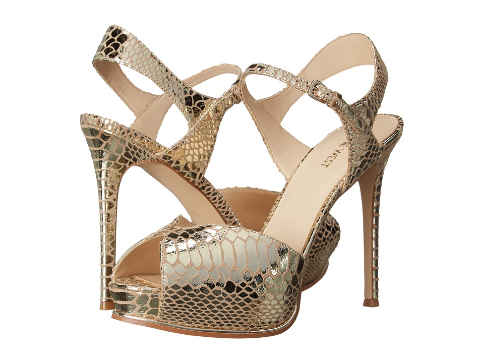 Nine West Cruzeto Light Gold Metallic High Heels
