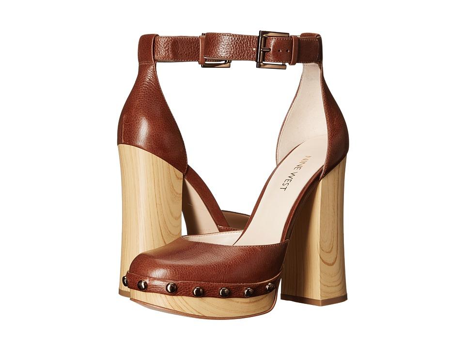 Nine West Cuzin Cognac Leather Womens Shoes