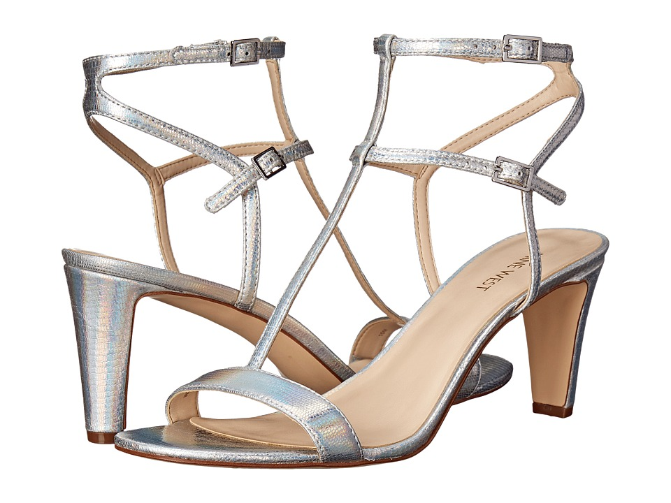 Nine West Dacey Silver Metallic High Heels