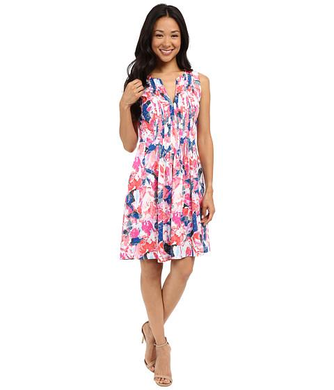 NYDJ Printed Rayon Voil Shirt Dress