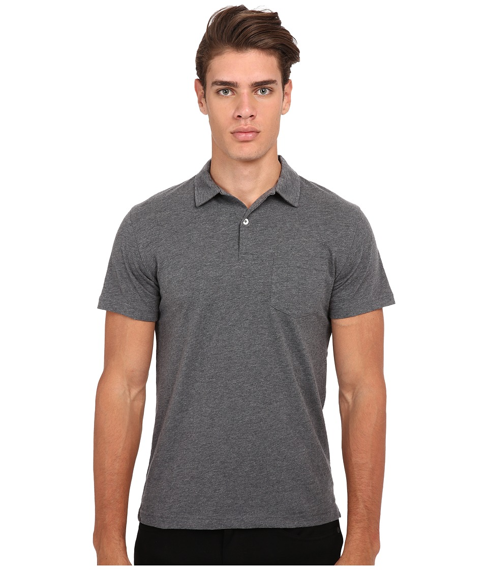 Gant Rugger R. Chestpocket Polo Dark Grey Melange Mens Short Sleeve Pullover