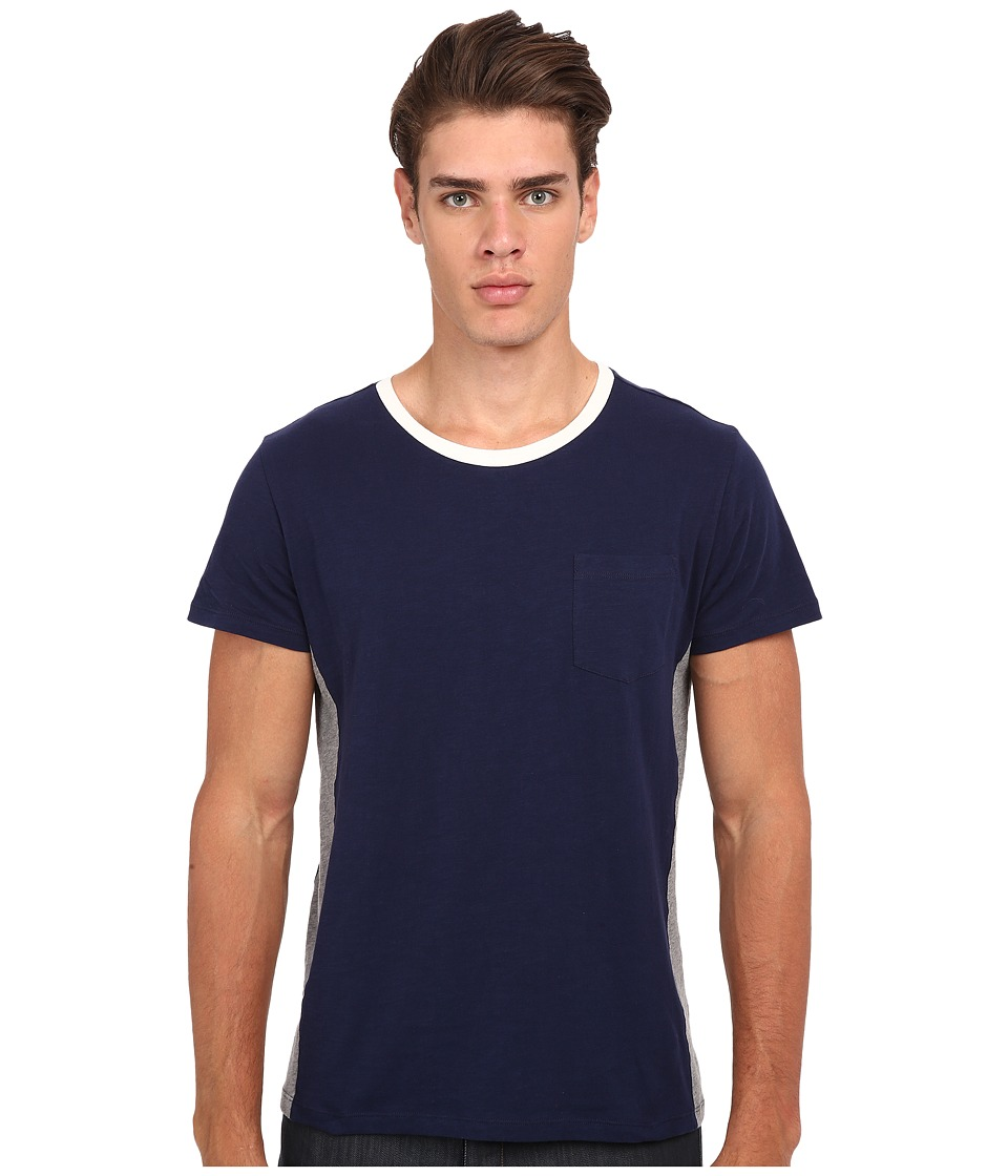 Gant Rugger R. Cut and Sewn Sidepanel Marine Mens T Shirt