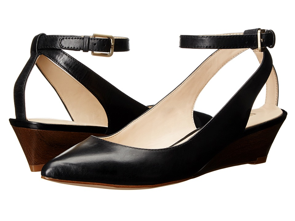 Nine West Edith Black Leather Womens Shoes