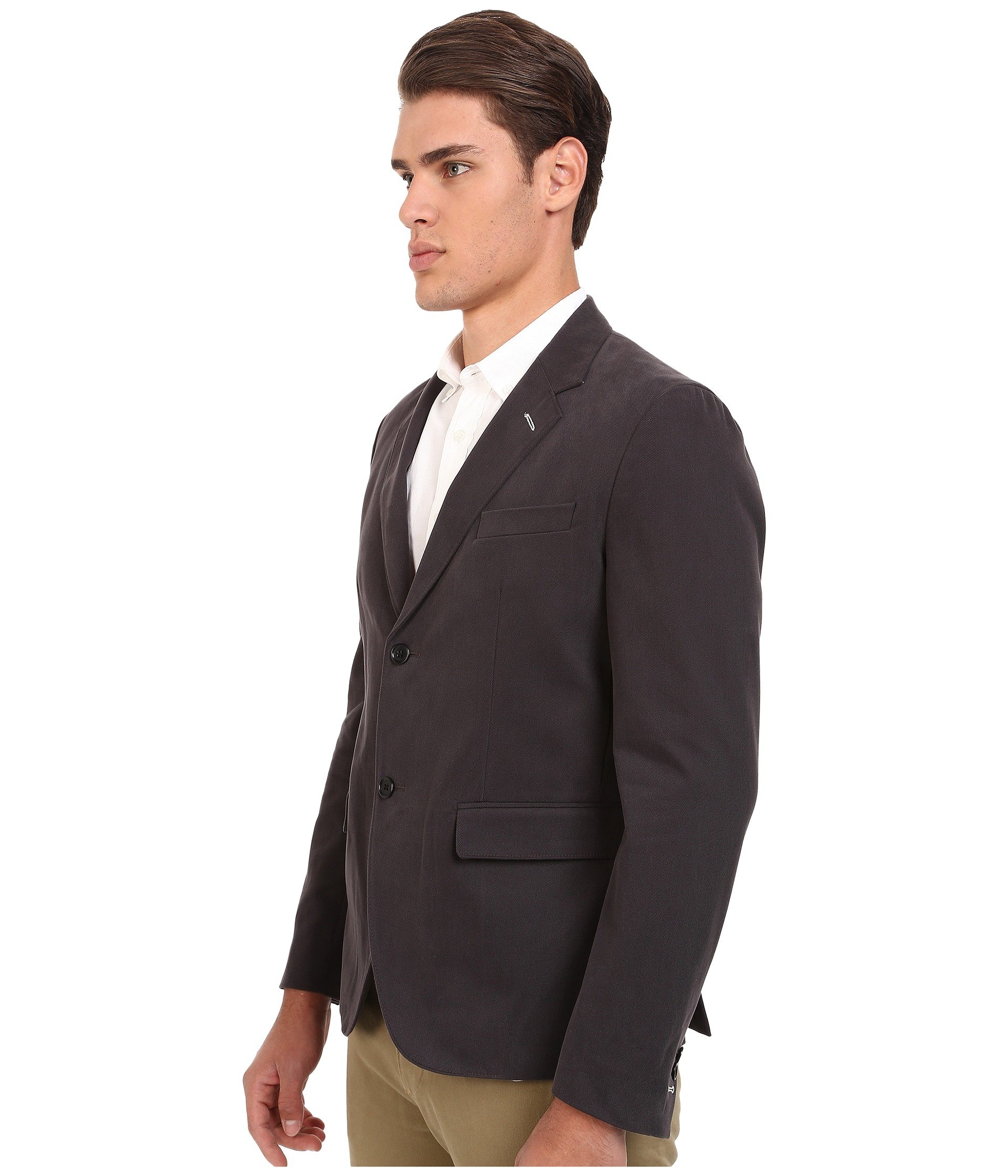 Gant Rugger R Twill Blazer Dark Graphite Zapposcom Free Shipping BOTH Ways