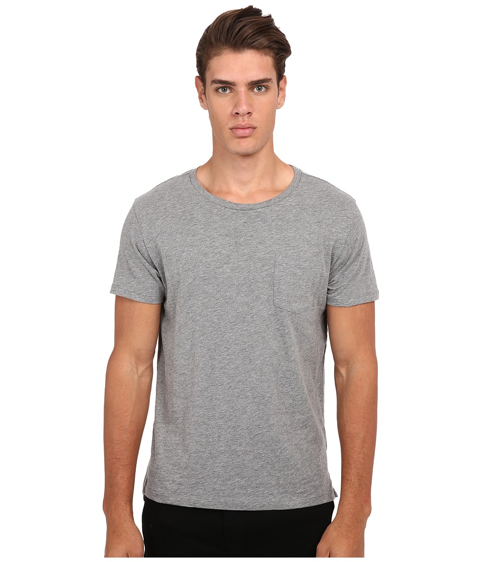 Gant Rugger R. Slit Tee Grey Melange Mens T Shirt