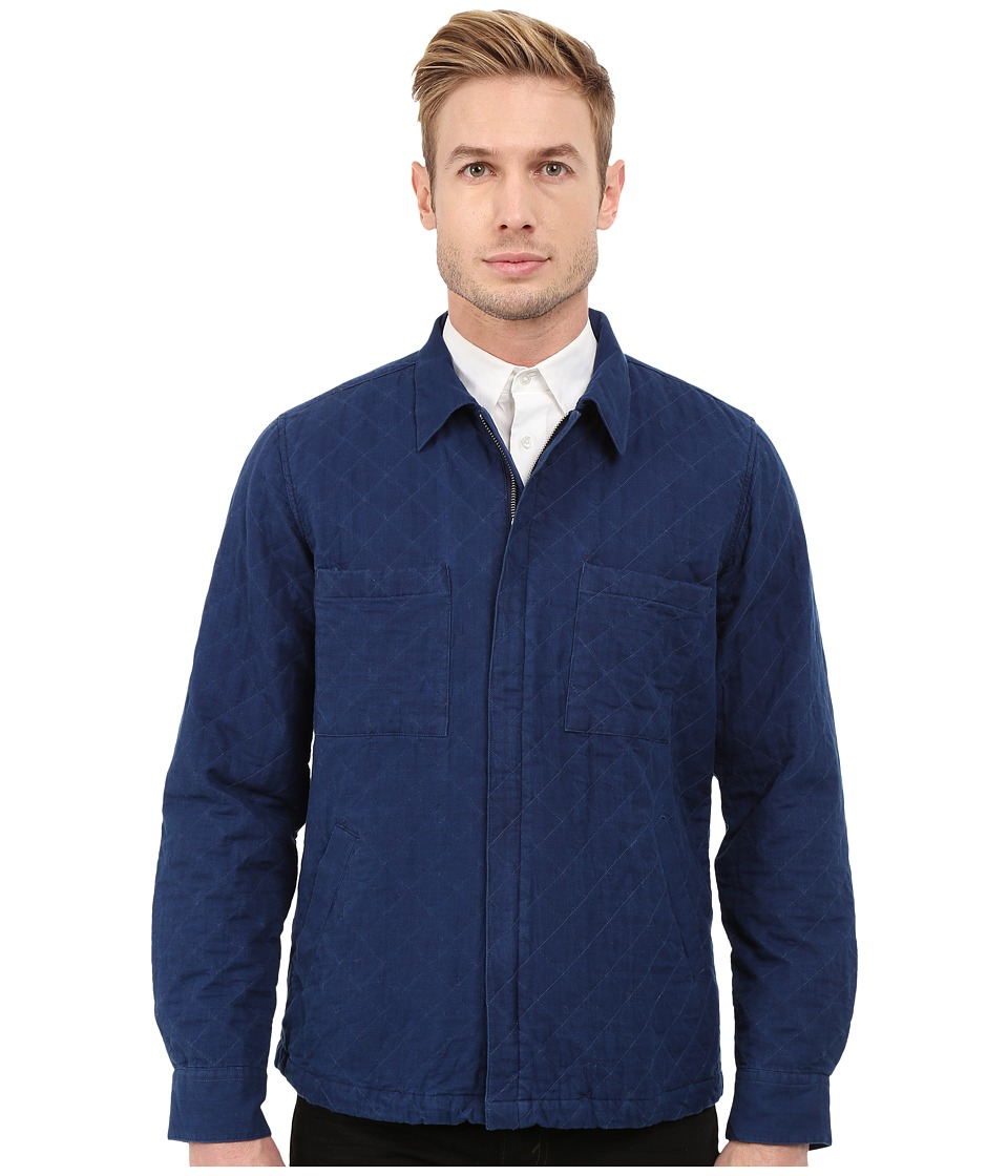 Gant Rugger R. Indigo Twill Shirt Jacket Indigo Blue Mens Jacket