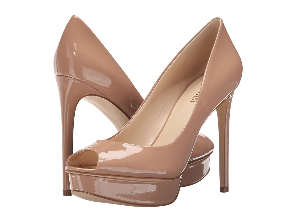 Nine West Edlyn Natural Patent Womens Shoes
