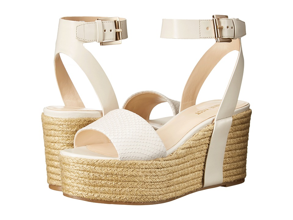 Nine West Edoile Off White/Off White Synthetic Womens Wedge Shoes