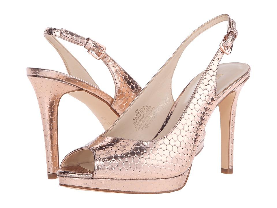 Nine West Emilyna Pink Metallic Womens Shoes
