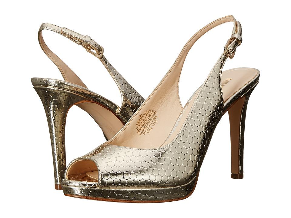 Nine West Emilyna Light Gold Metallic Womens Shoes