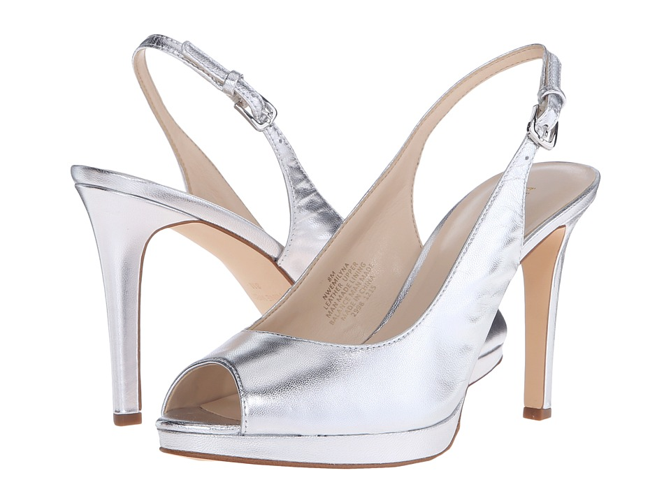Nine West Emilyna Silver Metallic Womens Shoes