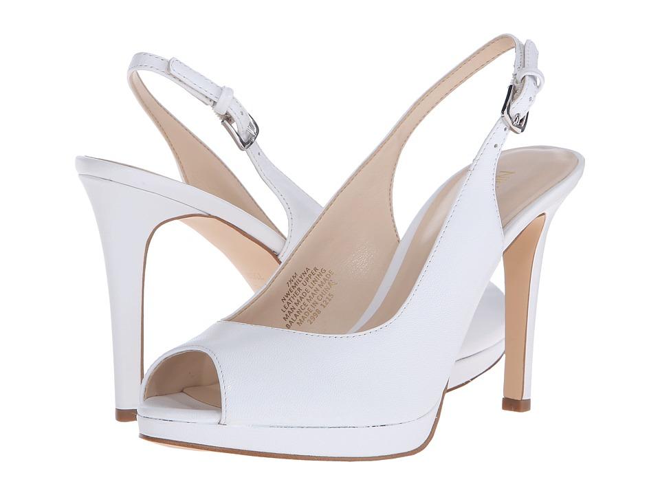 Nine West Emilyna White Leather Womens Shoes