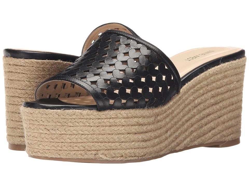 Nine West - Ertha (Black Leather) Womens Wedge Shoes