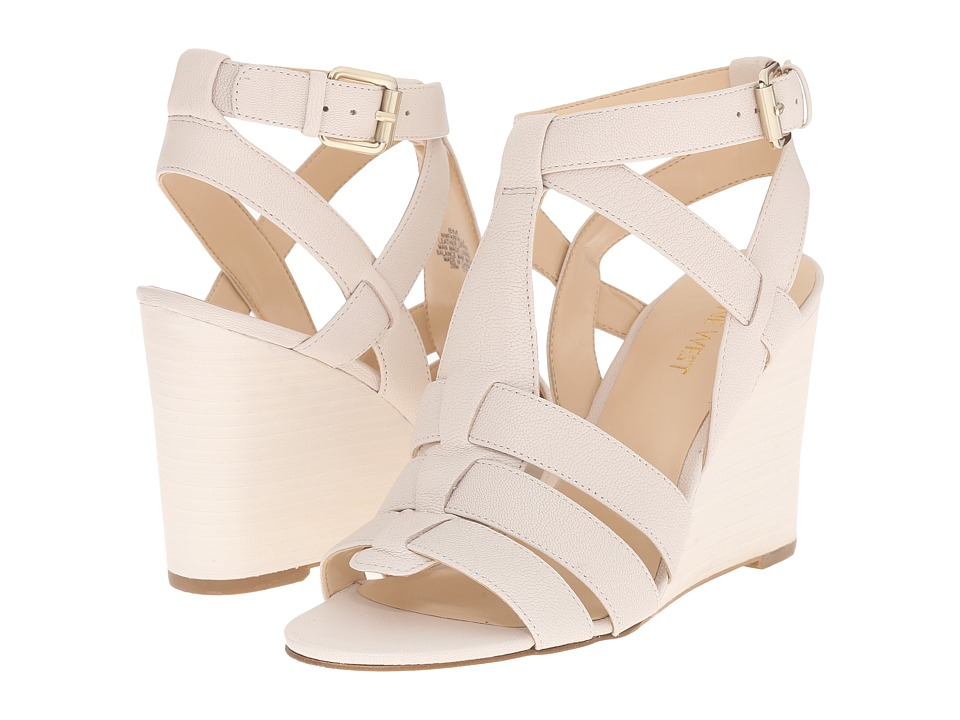 Nine West Farfalla Off White Leather Womens Shoes