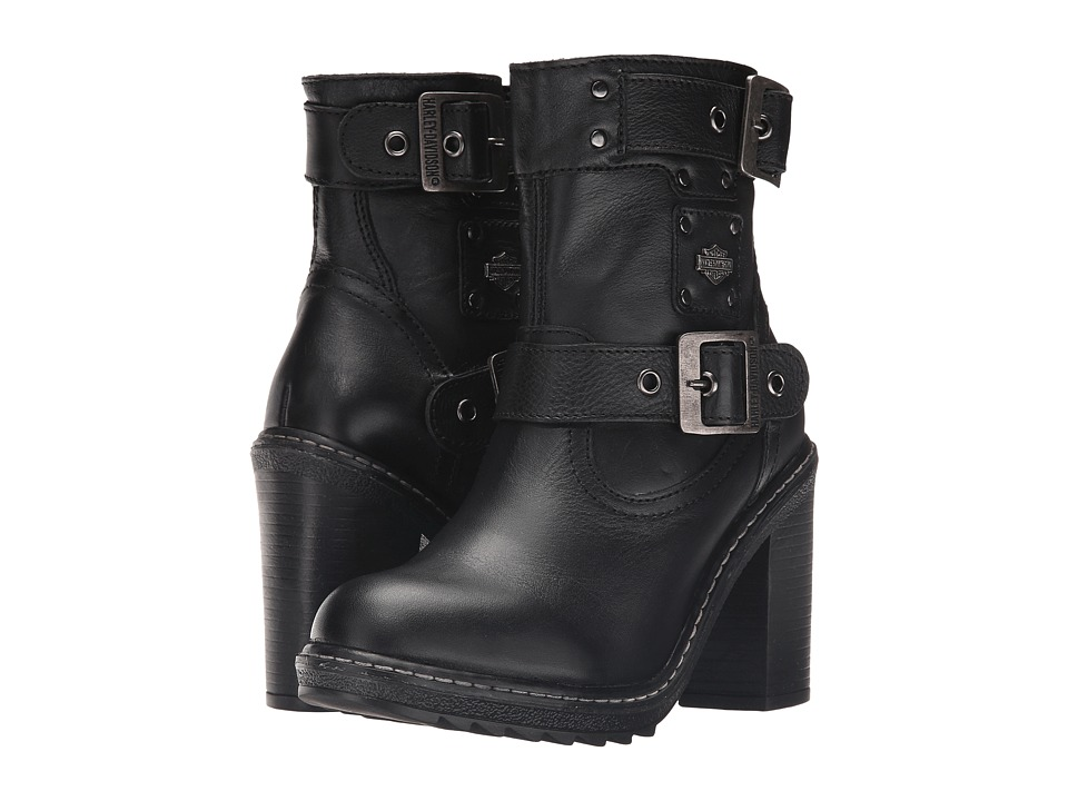 Harley Davidson Ludwell (Black) Women's Pull-on Boots