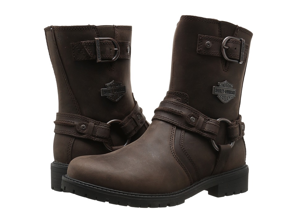 Harley Davidson Abner Brown Womens Pull on Boots