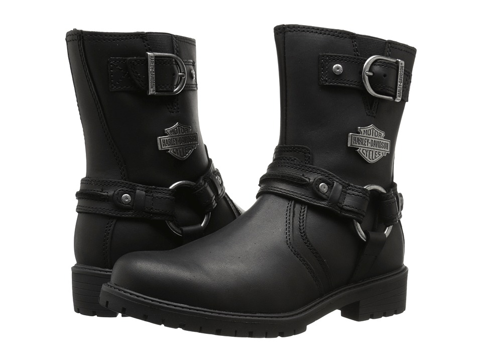 Harley Davidson Abner Black Womens Pull on Boots