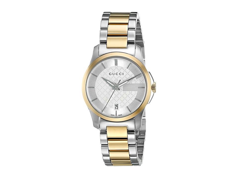 Gucci - G Timeless 27mm Silver Dial Bracelet