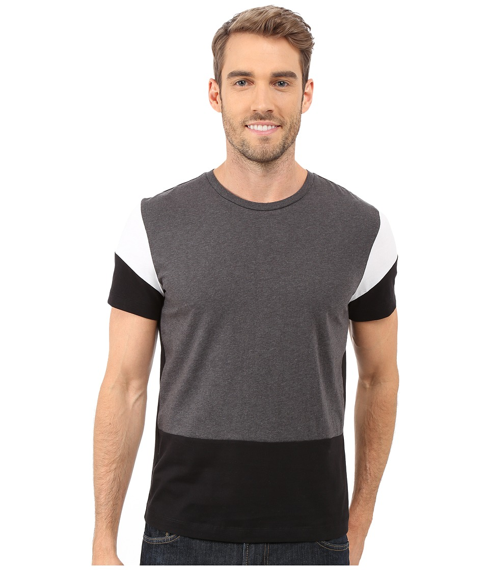 Kenneth Cole Sportswear Color Block Tee Black Combo Mens T Shirt