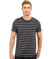 Kenneth Cole Sportswear - Short Sleeve Marled Stripe Crew