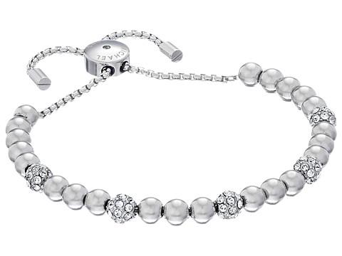Michael Kors Blush Rush Pave Adjustable Bracelet - Silver/Clear
