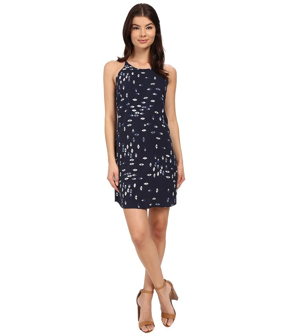 Brigitte Bailey Capri Printed Dress Navy Combo Womens Dress