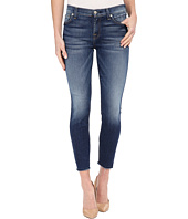 7 For All Mankind - The Ankle Skinny w/ Raw Hem in Bright Indigo Stretch 2