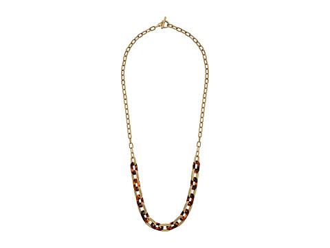 Michael Kors Color Block Long Link Necklace