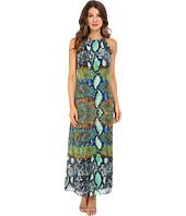 Christin Michaels - Catania Snakeskin Print Maxi