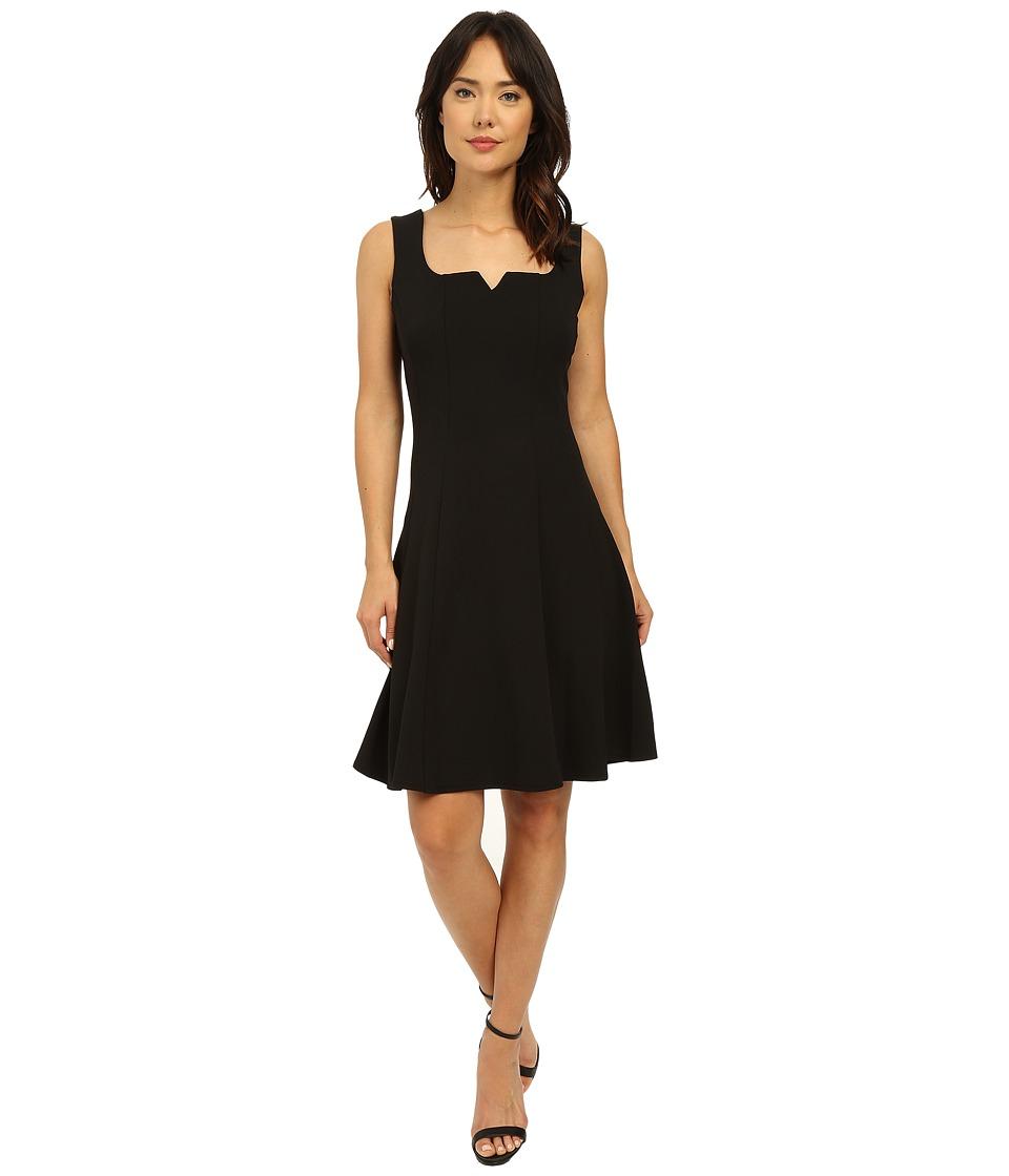 Christin Michaels Melanie Fit N Flair Dress Black Womens Dress