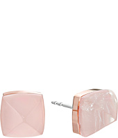 Michael Kors - Blush Rush Semi Precious Pyramid Stud Earrings