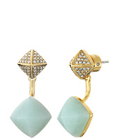 Michael Kors - Blush Rush Semi Precious Pave Pyramid Stud Earrings
