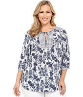 NYDJ Plus Size - Plus Size Patch Work Mosaic Blouse
