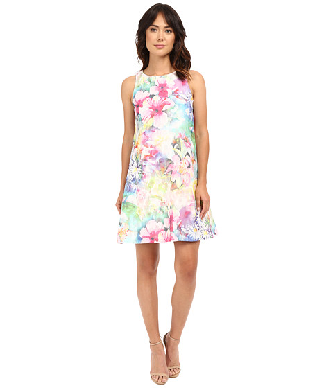 Christin Michaels Printed Floral Trapeze