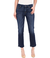 7 For All Mankind - Cropped High Waist Vintage Straight w/ Released Hem in Brilliant Blue Broken Twill