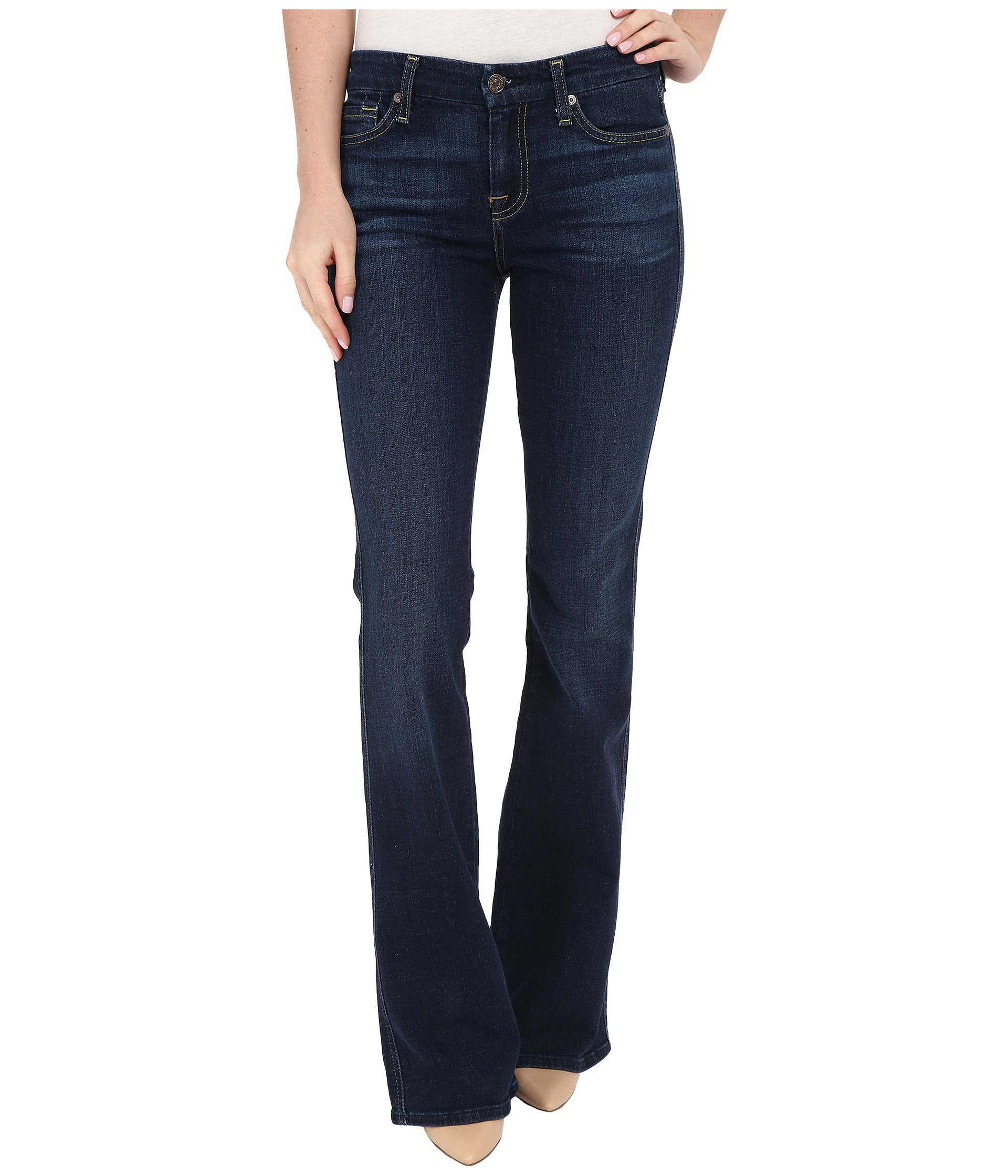 7 For All Mankind A Pocket in Nouveau New York Dark at Zappos.com