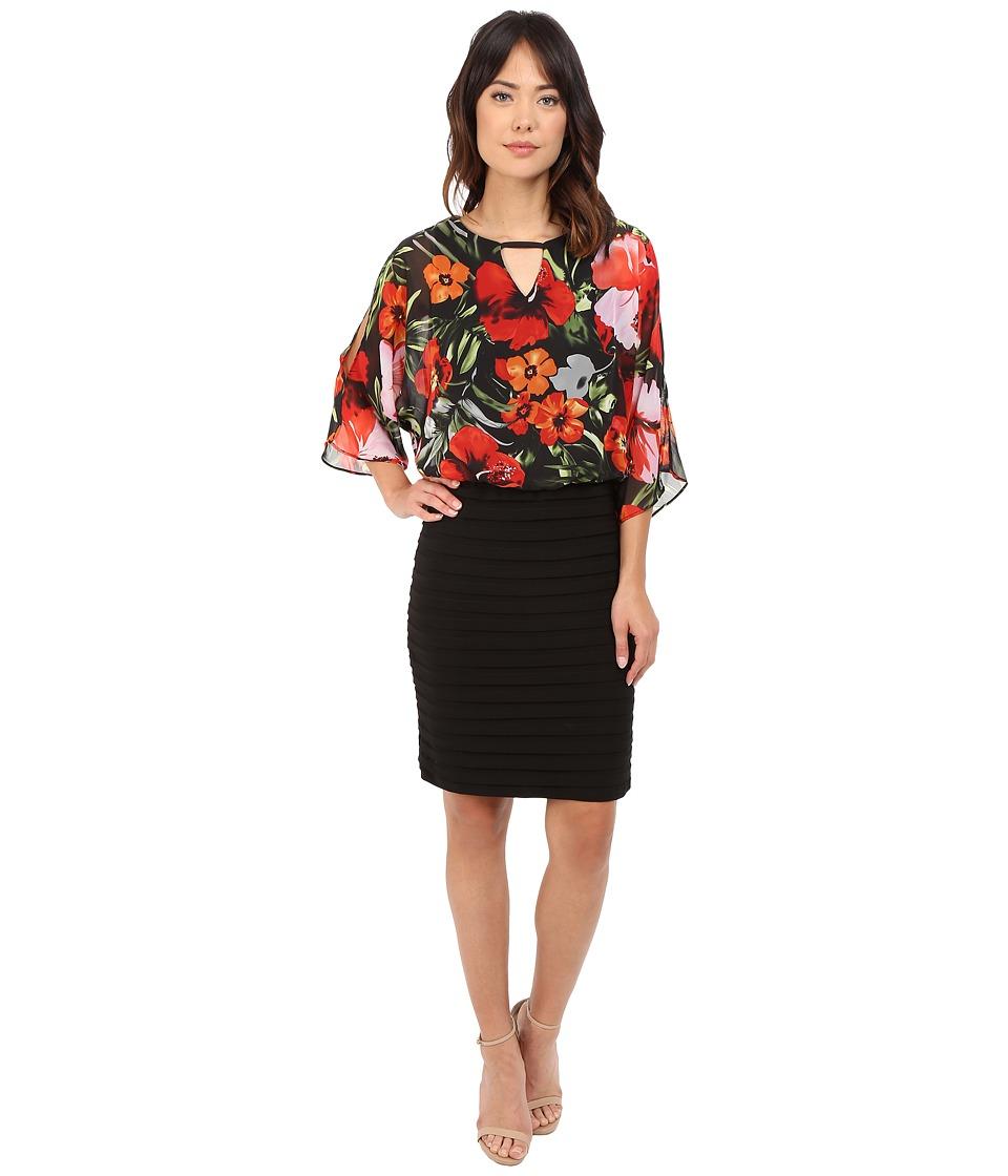 rsvp Brindisi Cold Shoulder Dress Black/Red Womens Dress