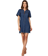 7 For All Mankind - Lace-Up Denim Dress