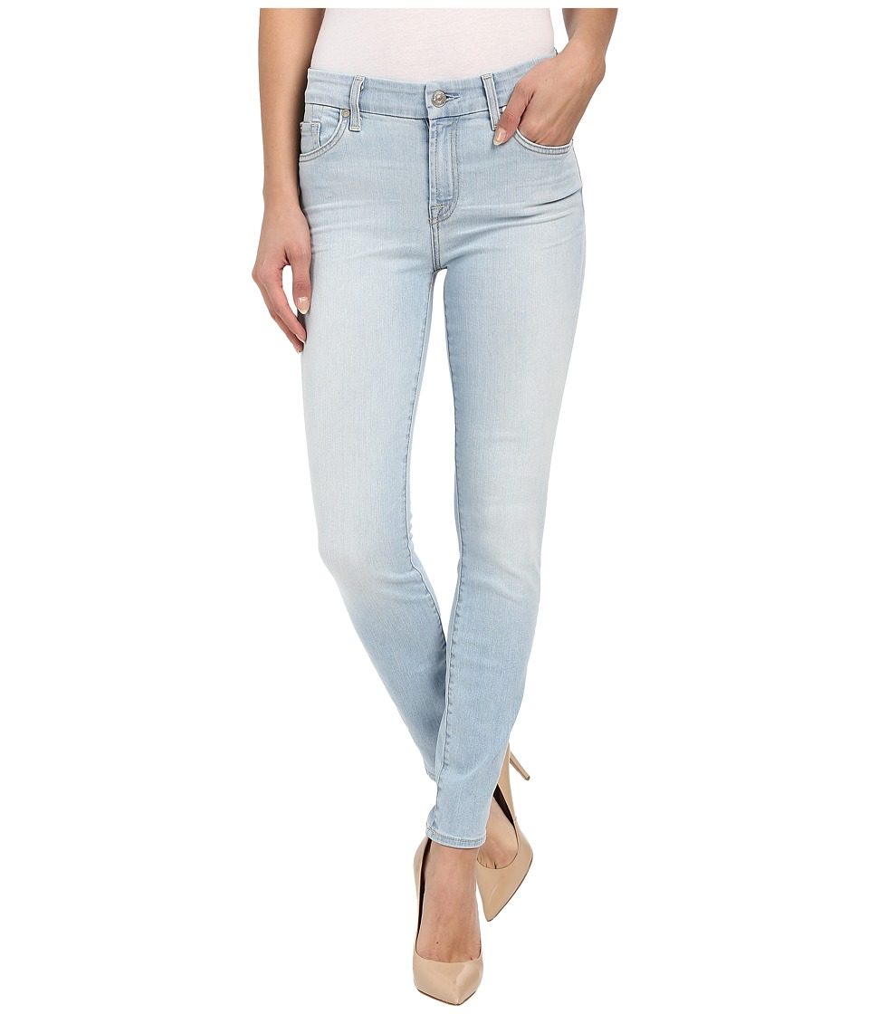 7 For All Mankind The Ankle Skinny w/ Contrast Squiggle in Daylight Blue Daylight Blue Womens Jeans