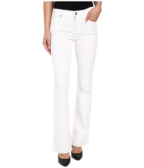 7 For All Mankind Tailorless Bootcut w/ Released Hem in White
