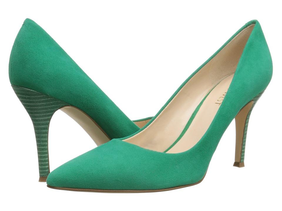 Nine West Flax Green Suede High Heels
